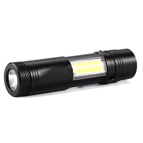 ZAIHW Petite lampe de poche LED torche ultra-brillante extérieure imperméable noire avec poche en aluminium avec lampe de mise au point en aluminium à DEL pour le camping marche randonnée escalade etc