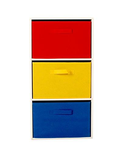 Colorido Tejido, 3 cajones de almacenamiento cubos estante