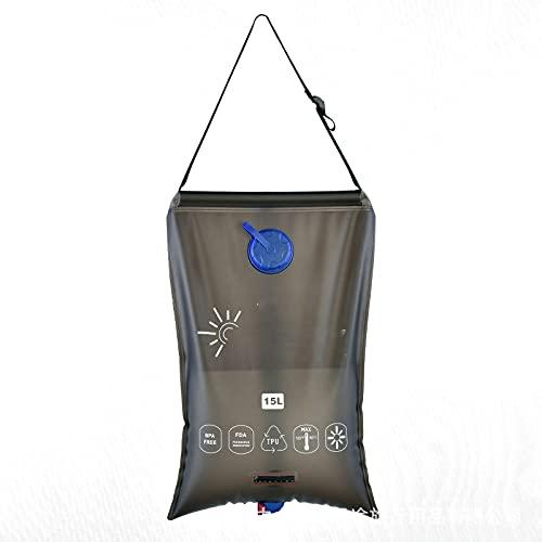 CWAIXXMM Ducha eléctrica portátil, para Acampar Bolsa de Agua Solar Bolsa portátil con Manguera de Interruptor y Cabeza de Ducha para al Aire Libre Senderismo Picnic Nadando