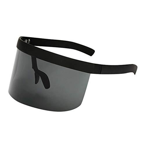 Xniral Einteilige Sonnenbrille Staubdicht Winddicht Sonnenschutz Sonnenschutzbrille für Radfahren, Wandern, Angeln(Schwarz)