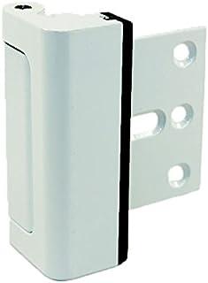 """HardwareX Supply Door Reinforcement Lock, Privacy Door Latch Harden Construction 3"""" Stop, White"""