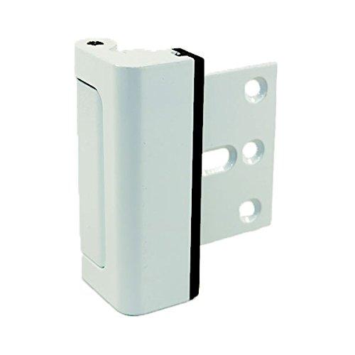 HardwareX Supply Door Reinforcement Lock, Privacy Door Latch Harden Construction 3' Stop, White