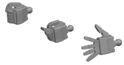 Builders parts HD 1/144 MS Hand 03 (federal system S size) (japan import)