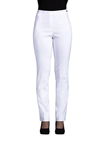 Robell Damen Slim Arbeitshose-Stretchhose, Weiß (10), Gr.- 42