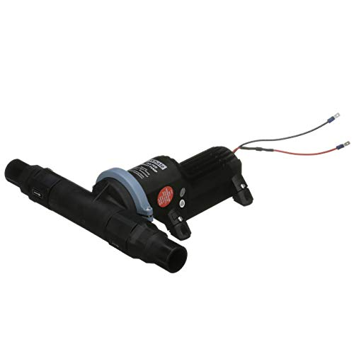Whale BP2552B Gulper Toilet Pump, for Holding Tank Electric Pump-Out/Discharge, 12V, 1 ½-Inch Discharge Ports, Rotating Head