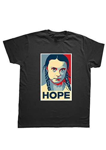 PressYou Maglietta t-Shirt Greta Thunberg Hope, XS-Uomo