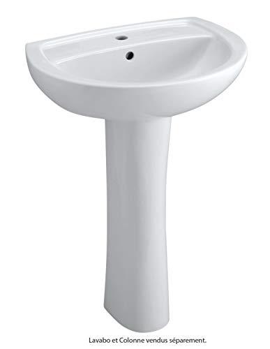 BASTIA Spalte 00186200000 Waschtisch, Keramik, Weiß
