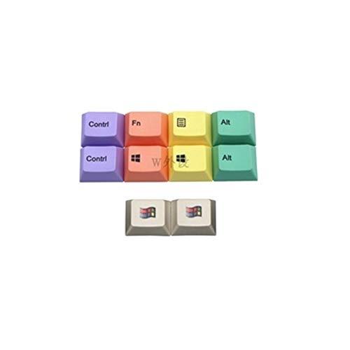 YEZIO Keycaps für Keyboards 10 Tasten/Set PBT Sublimation Tastkappen Filco Cap Mechanische Tastatur Cherry Key Profil Kappen for MX-Schalter R1 Höhe 1.25U Universal (Colore : 10 Keys)