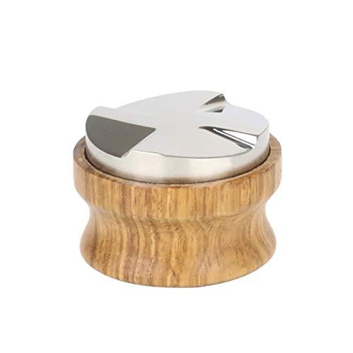 CCHAO Hölzerne Kaffee Händler Espresso Palm Tamper 58mm Kaffee Pulver Presswerkzeuge (Color : 7HH1403352 2)