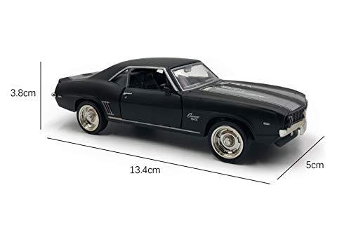 emosq  Licenza Ufficiale 1:36 Super Car Modello in Metallo Collezione all Black(Chevrolet Camaro 1969)
