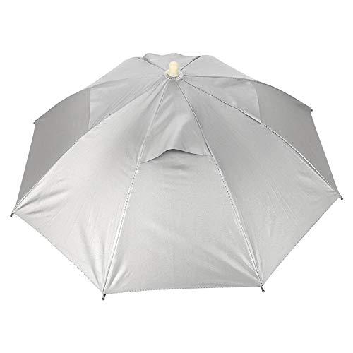 Leinggg Regenmuts, voor paraplu's, voor vrije handen in de open lucht, UV-bescherming, waterdicht, licht