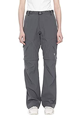 Little Donkey Andy Women's Stretch Convertible Pants Zip-Off Quick Dry Hiking Pants Steel Gray Size L