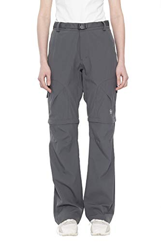 Little Donkey Andy Women's Stretch Convertible Pants Zip-Off Quick Dry Hiking Pants Steel Gray Size M