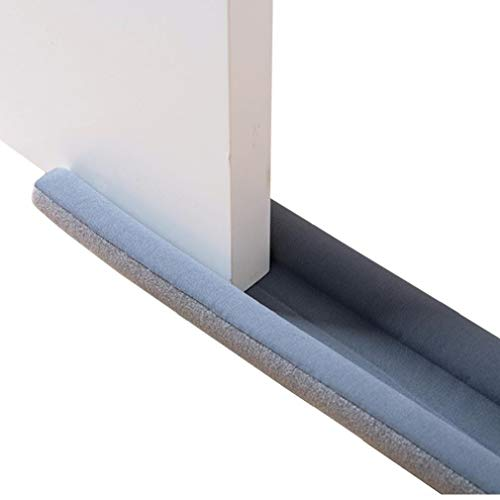 LjzlSxMF Door Draft Draught Excluder, Two Sided Draft Stopper for Doors Can Be Cut Adjustable Door Draft Noise Stopper for Home Window Door