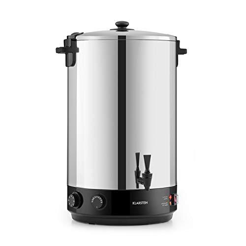 Klarstein KonfiStar 50 - Stérilisateur automatique, Distributeur boissons chaudes, 50 L, 30-110 ° C, Conservation à chaud, acier inoxydable