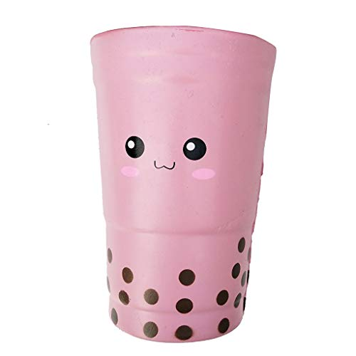 DIGOOD Slow Rebound Cute Tea Cup Stress Reliever Scent Toy for Kids Party Squeeze Toys (Pink)