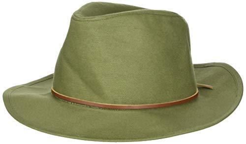 BRIXTON Sombrero Fedora Wesley de algodón Verde Oliva - S - 56cm