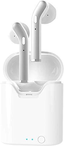 Bluetooth-Ohrhörer, kabellos, Stereo-Ohrhörer, Geräuschunterdrückung, Mikrofon für iPhone XR X 8 8 Plus 7 7 Plus 6S 6 iOS Samsung S7 S8 Android Handys Tablet, rechtes und linkes Ohr