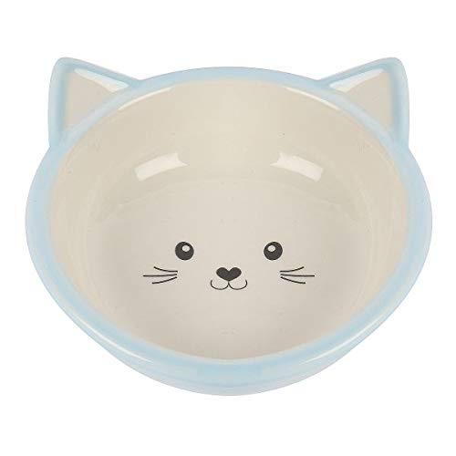 Happypet voerbak Kitten lichtblauw/Creme 200 ML