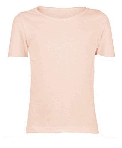 Papaval Camiseta básica de manga corta para niña, uniforme de tripulación
