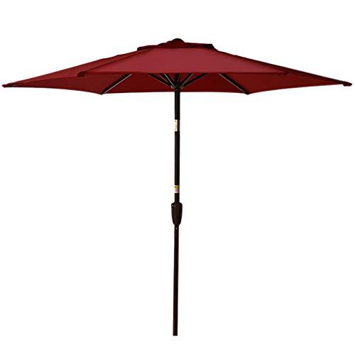Sundale Outdoor 7.2 ft Patio Umbrella Table Market Umbrella with Push Button Tilt & Aluminum Pole, Polyester Canopy for Garden, Deck, Backyard, Pool (RED)