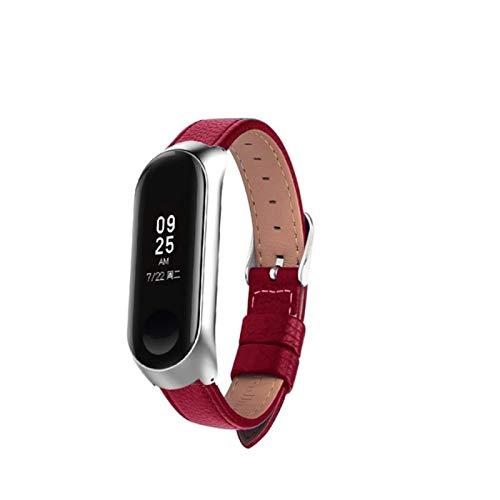 Correa de reloj para Xiaomi Mi Band 5/4 Correa de reloj de cuero Correa de muñeca para xiaomi mi band 4 accesorios pulsera Miband5 / 4/3 Correa
