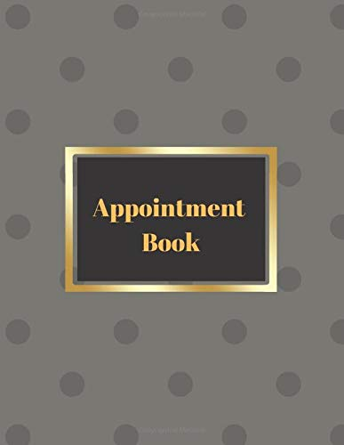 Appointment Book - Polka Dot Design: Undated 3 assistants hourly / daily schedule notebook from 6am to 9pm for Hairdressers, Massage salons, Nail bars ... planner and yearly 2020/21 overview calendar