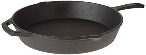 "Home-Complete Pre-Seasoned Cast Iron Skillet-12 inch for Home, Camping Indoor and Outdoor Cooking, Frying, Searing and Baking, 12"", Black"