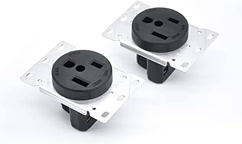 [2 Pack] BESTTEN 50 Amp Range Outlet, NEMA 6-50R,...