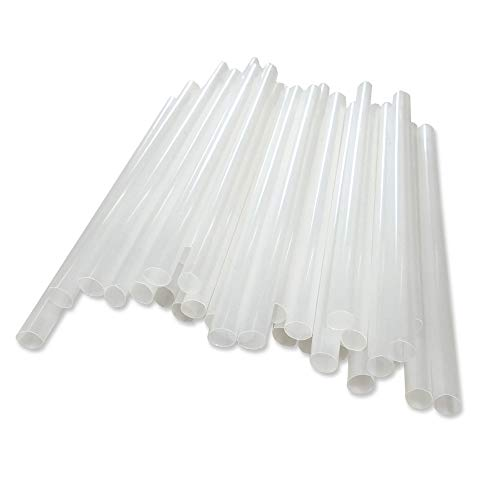 BIOZOYG Pailles compostables I Pailles Ø 8mm d'épaisseur pour Smoothies, Cocktails, laits et Bien d'qutres I Pailles Caipirinha I 3000 pièces Pailles biologiques Blanc 15cm de la Longueur