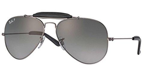 Ray-Ban Unisex-Erwachsene Outdoorsman Craft Sonnenbrille, Grau (Gunmetal), 58 mm