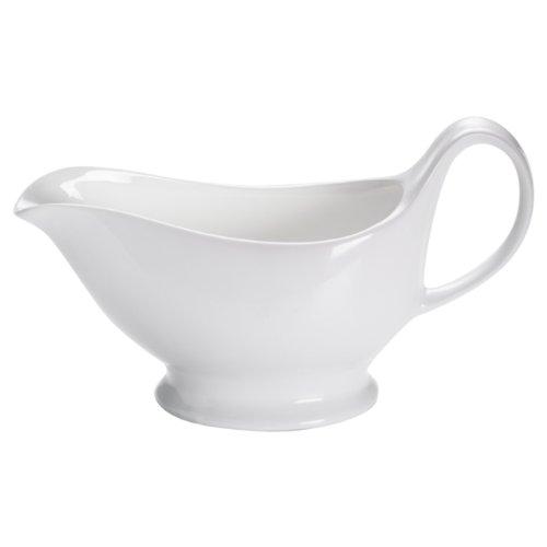 Maxwell & Williams White Basics Gravy Boat, Porcelain, White, 400 ml (13.5 fl oz)
