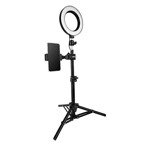 Fotografie invullicht, 6 inch USB LED-videolamp Dimbare ringlamp voor fotografie Selfie Live Studio, statief met opvouwbaar ontwerp, voldoende en uitgebalanceerd natuurlijk licht