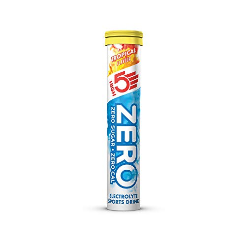 HIGH5 ZERO Electrolyte Hydration Tablets Added Vitamin C - (Tropical, 20 Tab Tube)