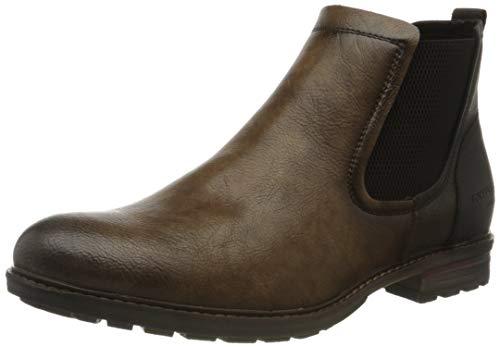 Tom Tailor Mens 9082102 Ankle Boot Flat Boot, Braun, 44 EU