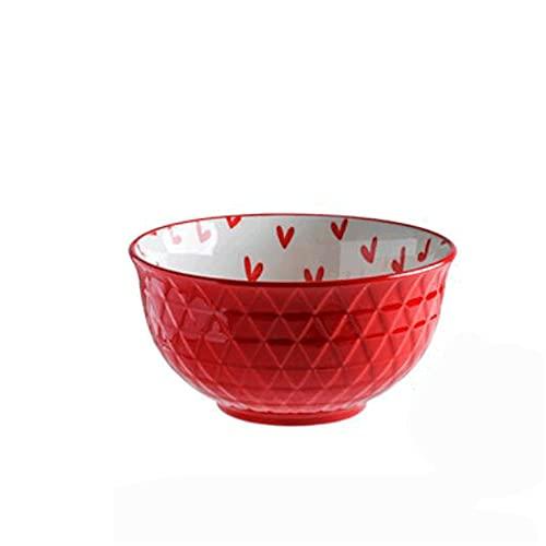 Dabeigouzwan Cuencos Cocina, Tazón de arroz de cerámica doméstico S/M/L Varios tamaños, vajilla de Restaurante, tazón de arroz, Ligero y Duradero, Adecuado para lavavajillas y hornos de microo