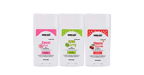 Natural Deodorant for Girls – All day Fresh Kids deodorant for kids 8+ - 24Hrs Protection with Moisture Absorption – High Performance (3Pack Combo) Vegan friendly deodorant + Cruelty-Free