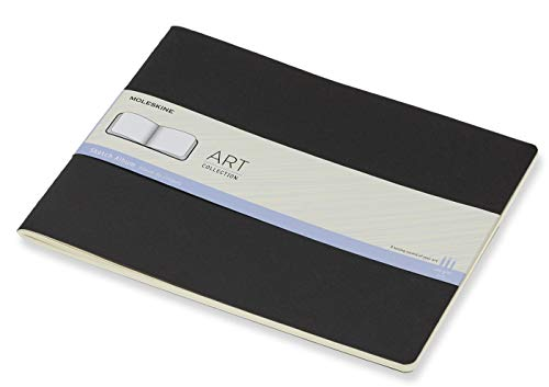 Moleskine Art Sketch Album, Hard Cover, XXL (8.5' x 11') Plain/Blank, Black