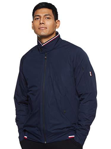 Tommy Hilfiger Herren Stretch Harrington Jacke, Blau (Navy Blazer Chs), Small (Herstellergröße:S)