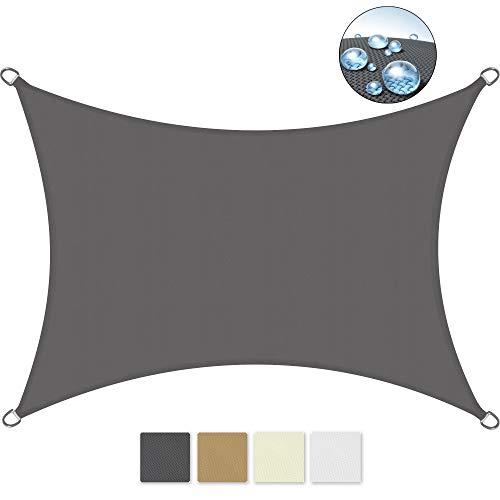 Sol Royal SolVision PS9 - Sonnensegel rechteckig 300x200 cm PES Wasserabweisend - Anthrazit - Sonnenschutz UV Schutz