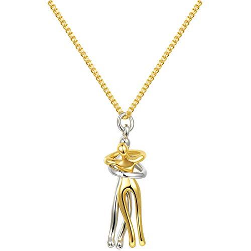 Dacitiery Collar de joyería romántica regalo de San Valentín para mujeres y niñas, marido, esposa, abrazo, collar personalizado regalo para mamá, esposa, novia (aleación de zinc)
