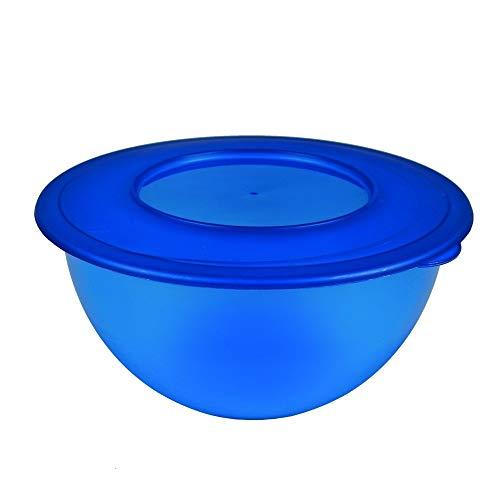 Centi Schüssel Salatschüssel mit Deckel 5 Liter Vorratsdose Aufbewahrung (blau)