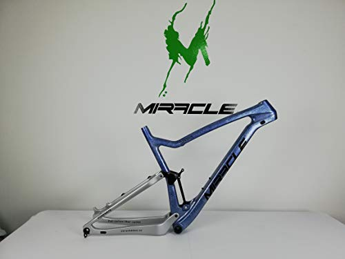 MIRACLE BIKES Cuadro de Carbono MTB Doble Suspensión 29' - Full Suspension - Talla 21