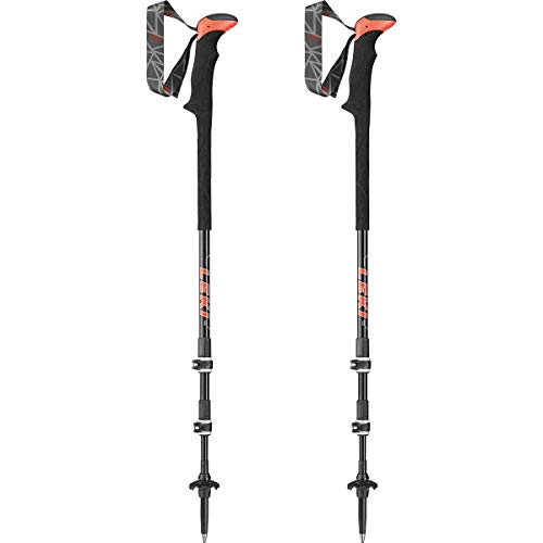 LEKI Carbon TA XTG Wanderstöcke, Black/red