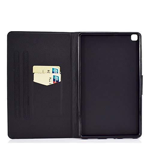 Succtop Hülle für Galaxy Tab A7 10,4 Zoll 2020, Folio Flip PU Leder Schutzhülle Galaxy Tab A7 Stifthalter Stand Wallet Cover Case Tablet Hülle Samsung Galaxy Tab A7 T500/T505/T507, Weißer Hase