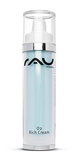 RAU O2 Rich Cream 50 ml - Feuchtigkeits-Creme für Sehr Trockene Haut mit Peptid, Aloe Vera, Ginkgo