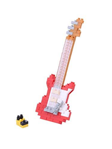 nanoblock NBC-171 - Electric Guitar Red / E-Gitarre 2, rot, Minibaustein 3D-Puzzle, Mini Collection Serie, 160 Teile, Schwierigkeitsstufe 2, mittel