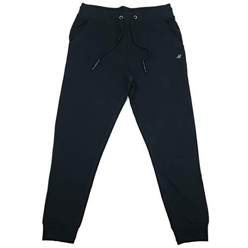 pantaloni tuta 5xl uomo U.S. Grand Polo Equipment & Apparel Pantaloni Tuta Calibrati Uomo con Polsini e Tasche Taglie Forti 3XL 4XL 5XL 6XL (4XL - Nero)