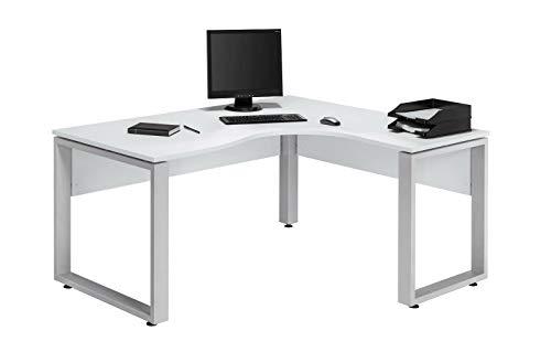 Eckcomputertisch Eckschreibtisch Schreibtisch Bürotisch Weiss Eiche Buche (Color : Weiss)