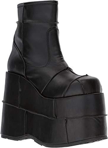 Demonia Men's Sta201/bvl Ankle Bootie, Black Vegan Leather, 12 M US